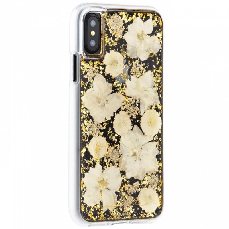 Case-Mate Karat Petals iPhone X/Xs Bloemen Wit 02