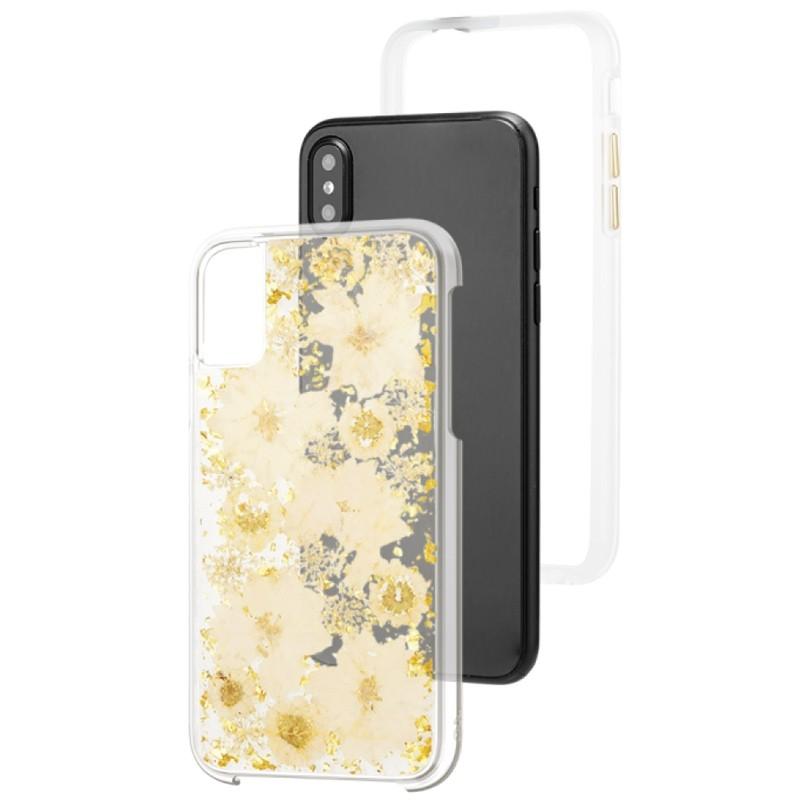 Case-Mate Karat Petals iPhone X/Xs Bloemen Wit 03