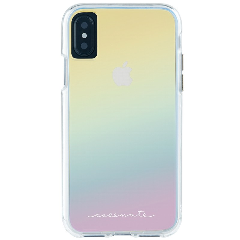 Case-Mate Naked Tough iPhone X/Xs Hoesje Iridescent 02