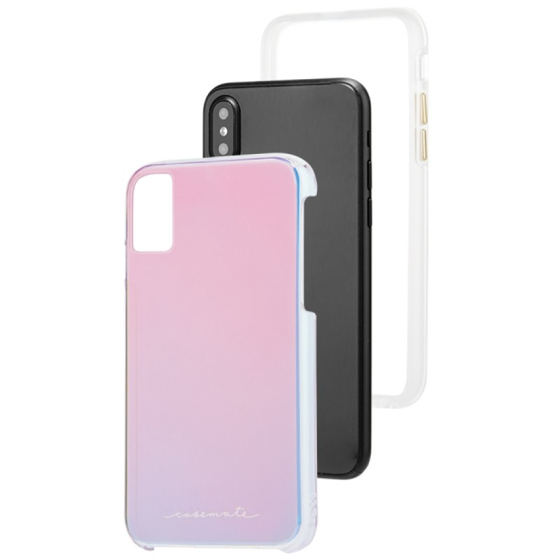 Case-Mate Naked Tough iPhone X/Xs Hoesje Iridescent 03