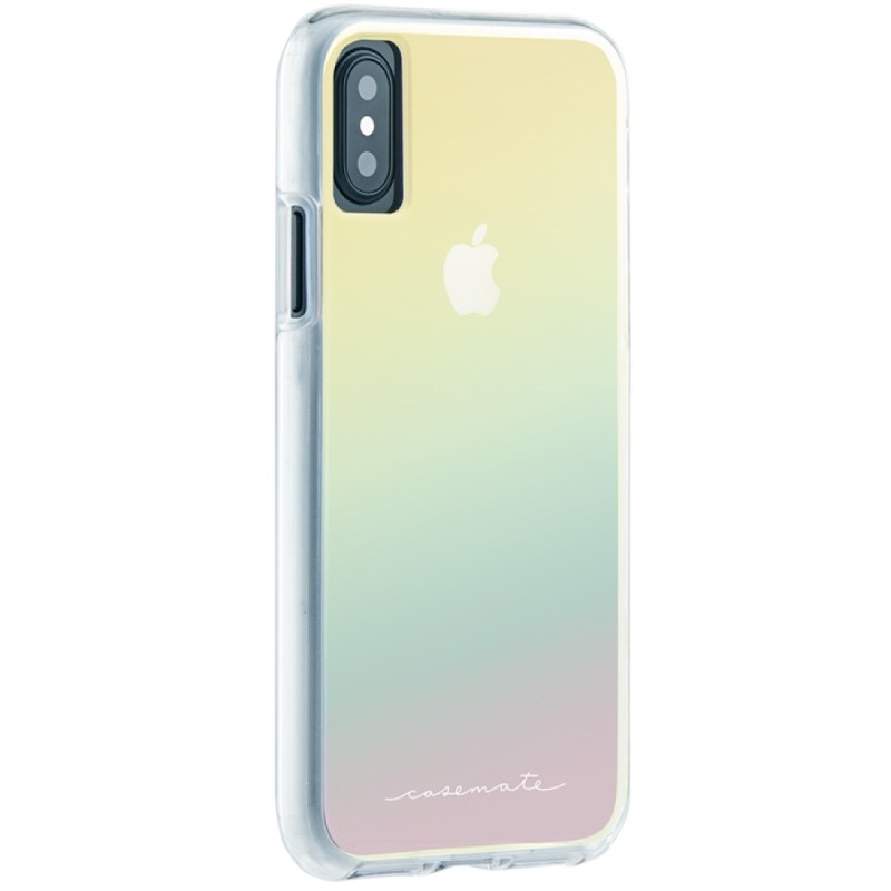 Case-Mate Naked Tough iPhone X/Xs Hoesje Iridescent 01