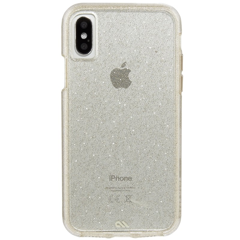 Case-Mate Naked Tough iPhone X/Xs Hoesje Sheer Glam 02