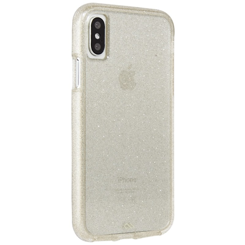 Case-Mate Naked Tough iPhone X/Xs Hoesje Sheer Glam 01