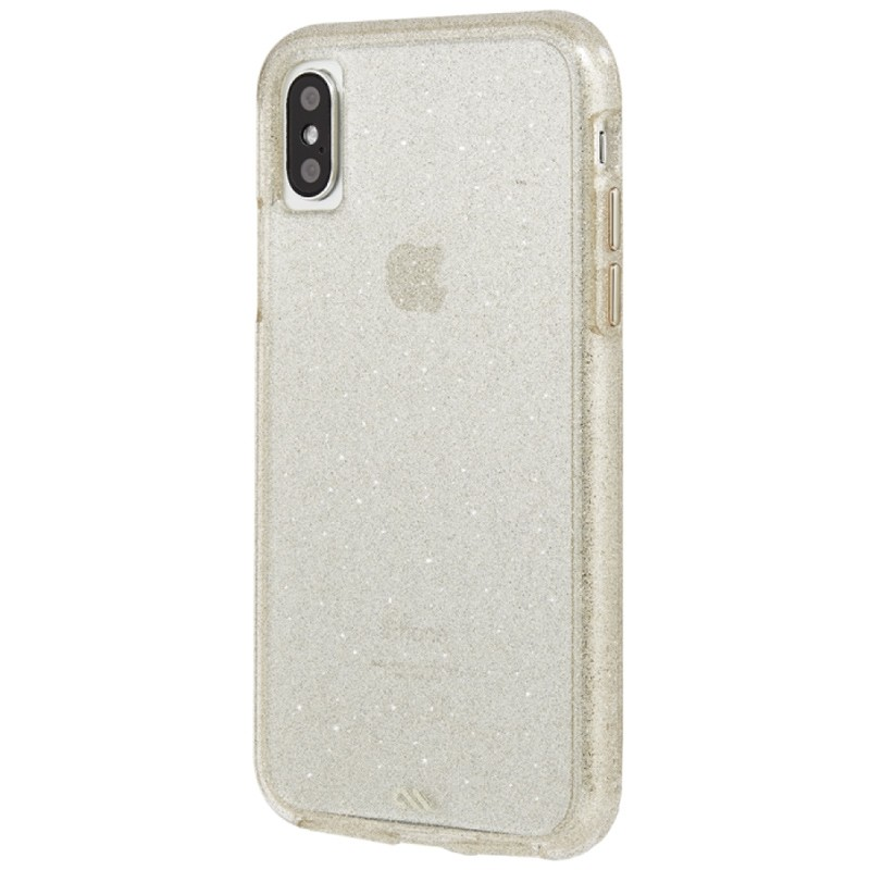 Case-Mate Naked Tough iPhone X/Xs Hoesje Sheer Glam 04