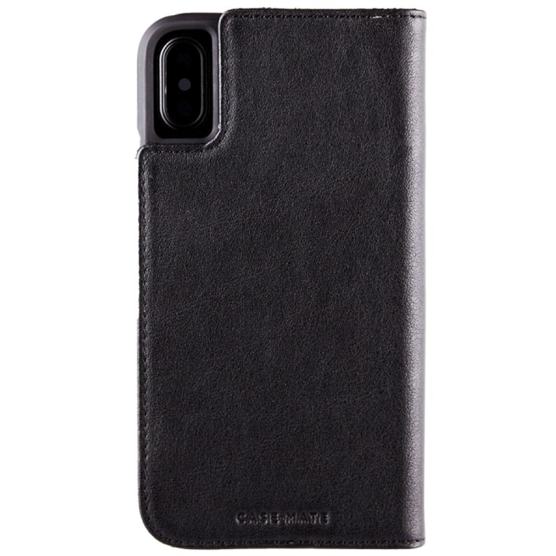 Case-Mate Premium Wallet Folio iPhone X Black 02