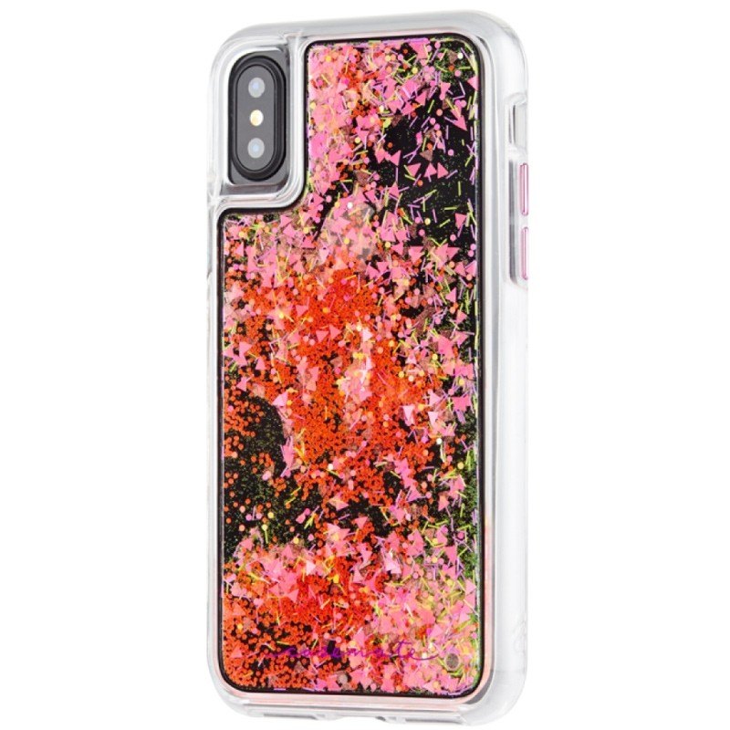 Case-Mate Waterfall Case iPhone X/Xs Glow in the Dark Pink 03