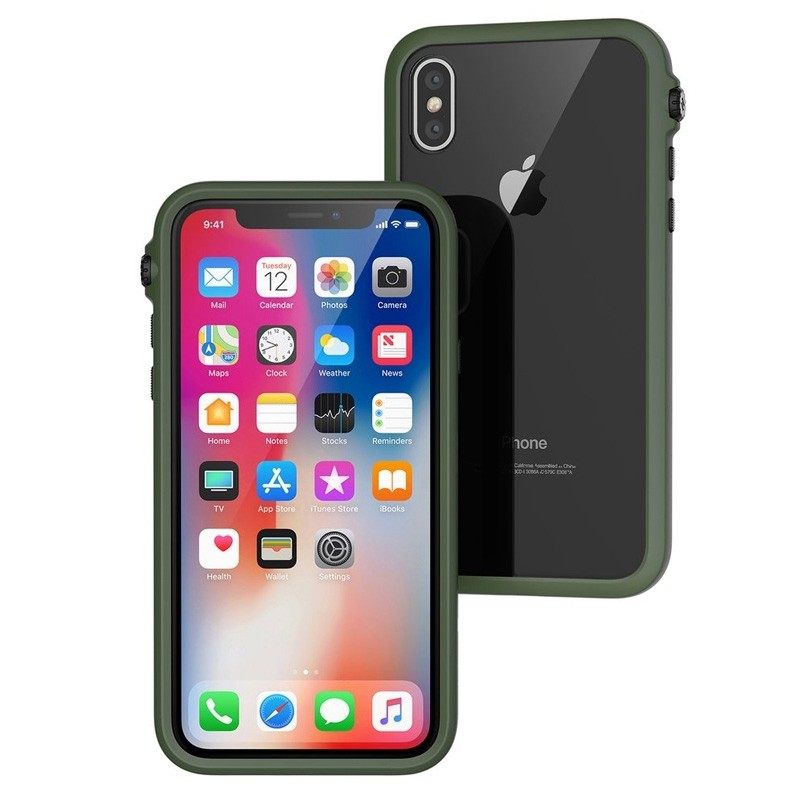 Catayst iPhone X/Xs Impact Protective Case Army Green - 1
