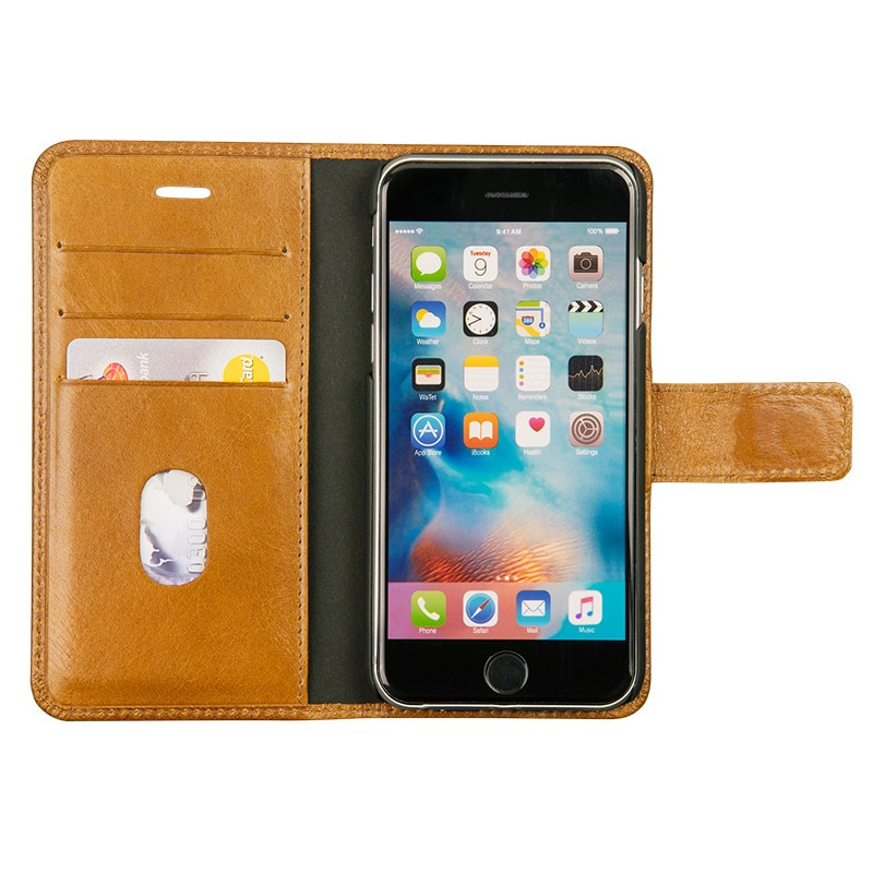 DBramante1928 - Copenhagen 2 Leather Folio iPhone 7 Tan 03