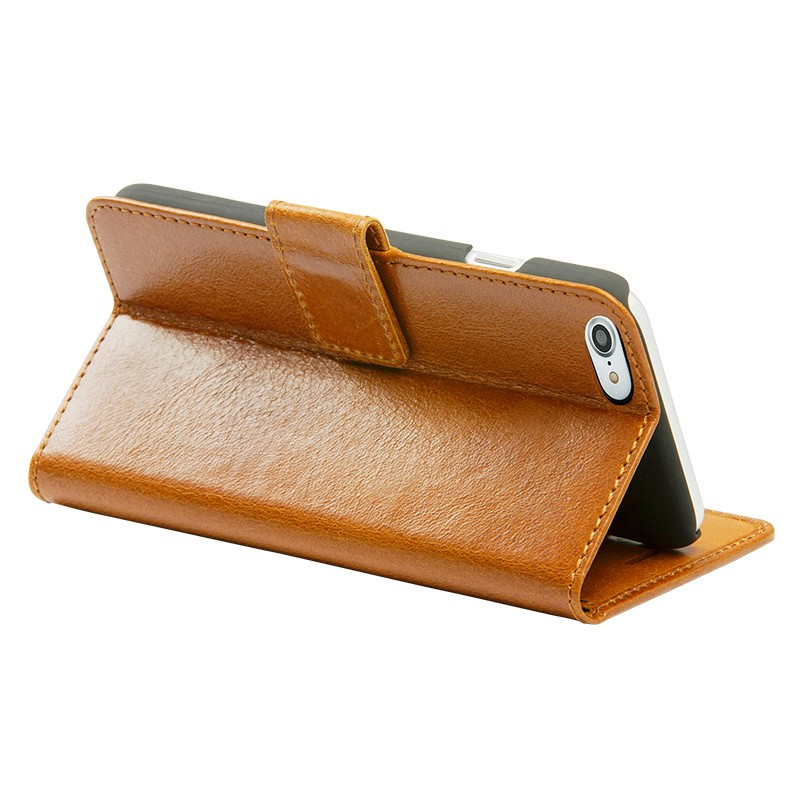 DBramante1928 - Copenhagen 2 Leather Folio iPhone 7 Tan 05
