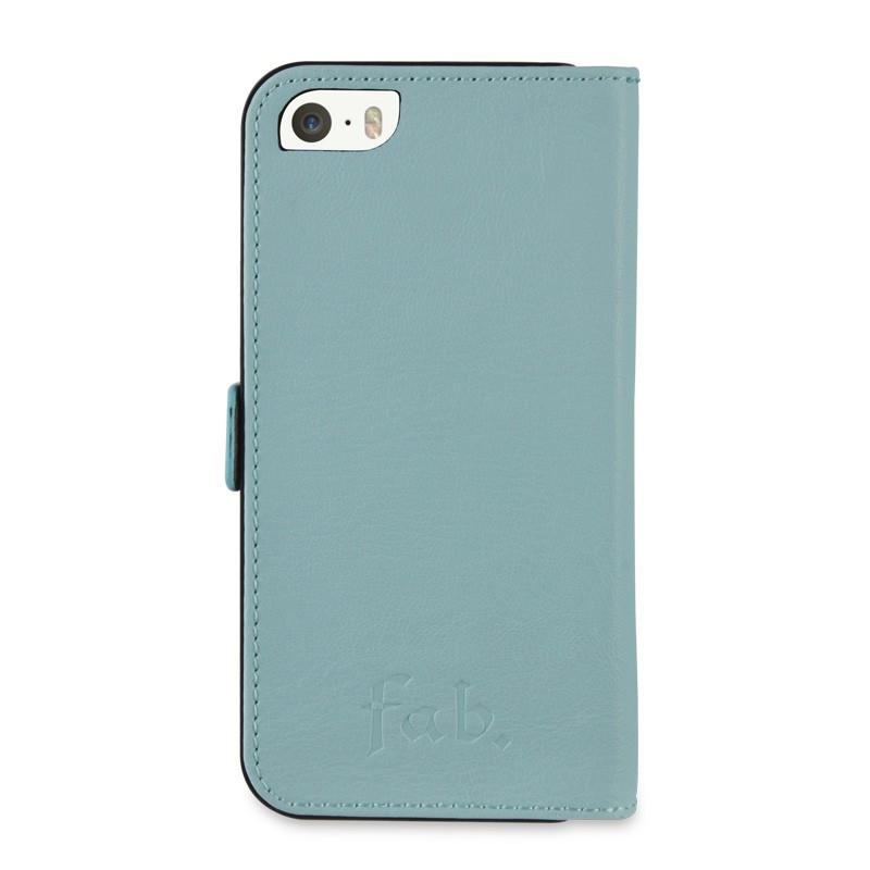 Fab. iPhone 5/5S Folio Studs Aqua - 2