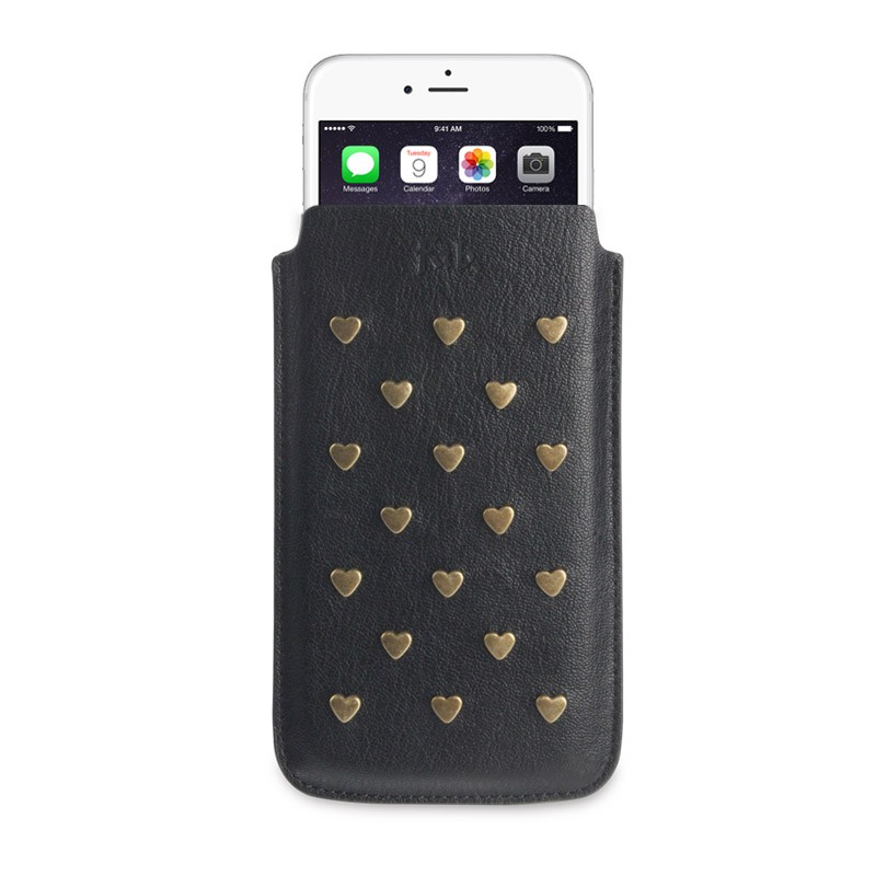 Fab. Pouch Studs Heart iPhone 6 Black - 1