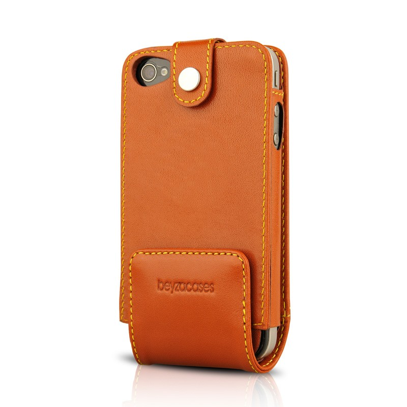 Beyzacases MultiFlip iPhone 4(S) Tan Brown 02
