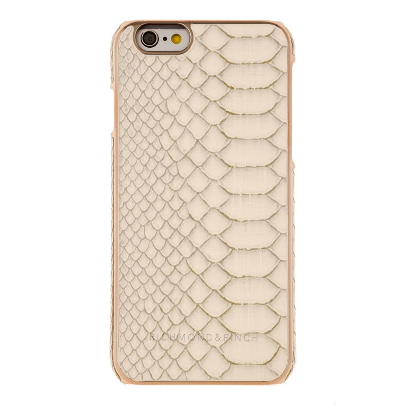 Richmond & Finch Framed Rosé iPhone 6 / 6S White Reptile - 1