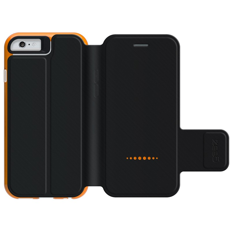 Gear4 3DO BookCase iPhone 6 / 6S Black/Orange - 2