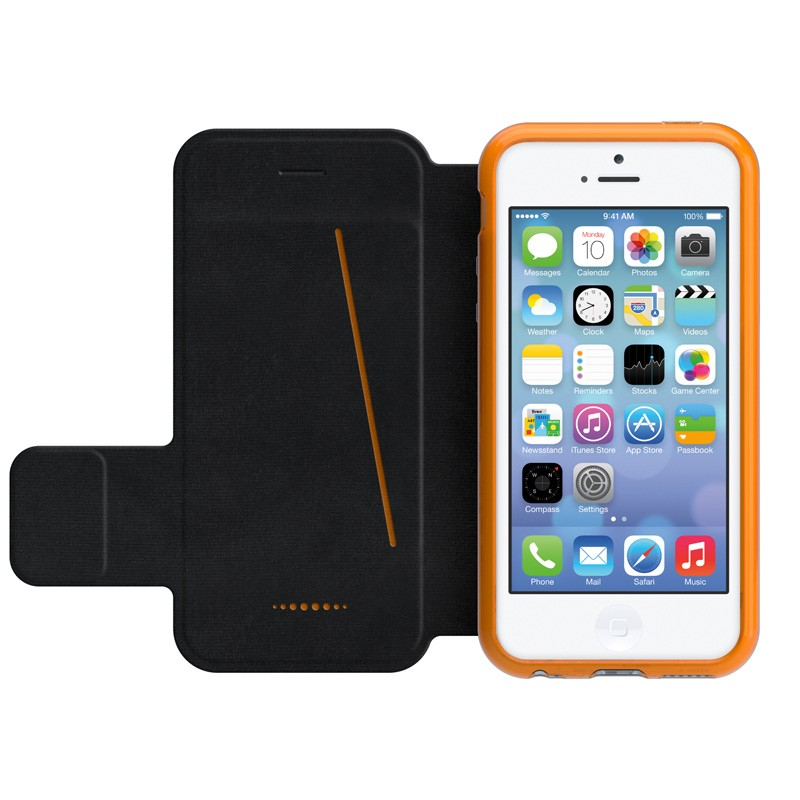 Gear4 3DO BookCase iPhone SE/5S/5 Black/Orange - 1