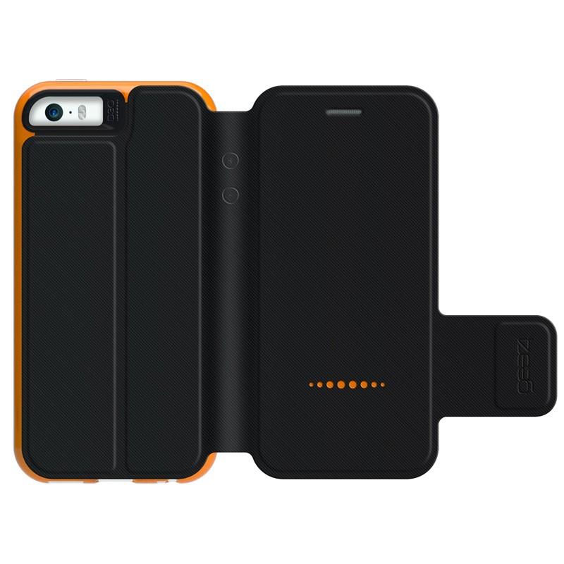 Gear4 3DO BookCase iPhone SE/5S/5 Black/Orange - 2