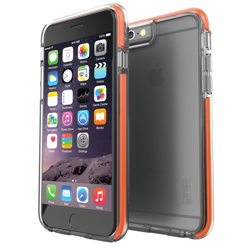 Gear4 3DO IceBox Shock iPhone 6 Plus / 6S Plus Clear/Orange - 1