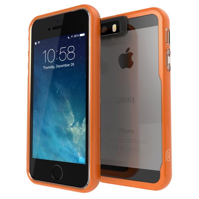 Gear4 3DO JumpSuit iPhone 6 / 6S Clear/Orange - 1