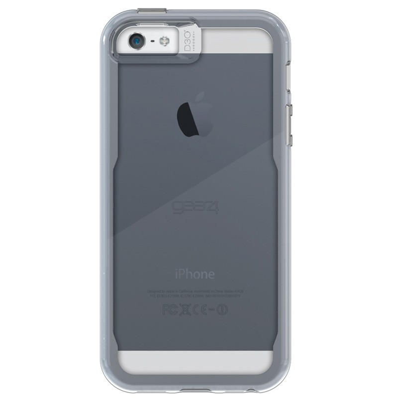 Gear4 3DO JumpSuit Tone iPhone SE/5S/5 Grey/Clear - 3