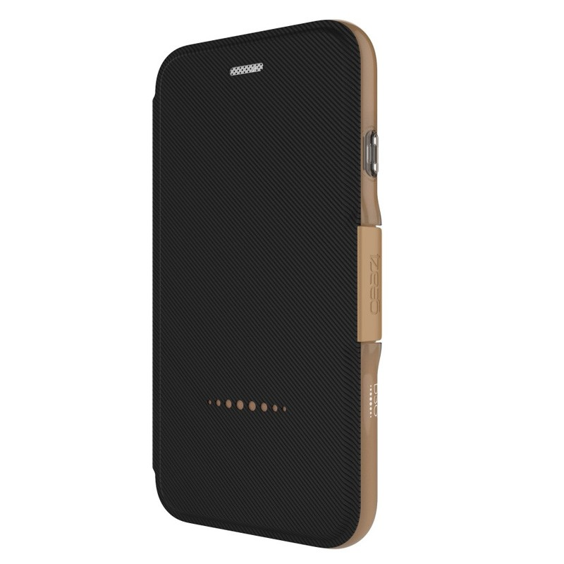 Gear4 Oxford Book Case iPhone 7 Black/ Gold - 2