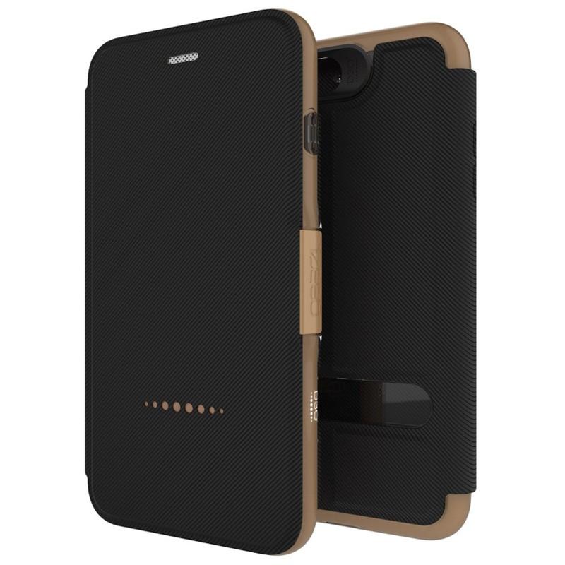 Gear4 Oxford Book Case iPhone 7 Black/Gold - 1