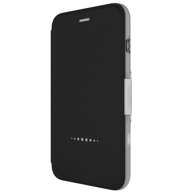 Gear4 Oxford Book Case iPhone 7 Black/Silver - 2