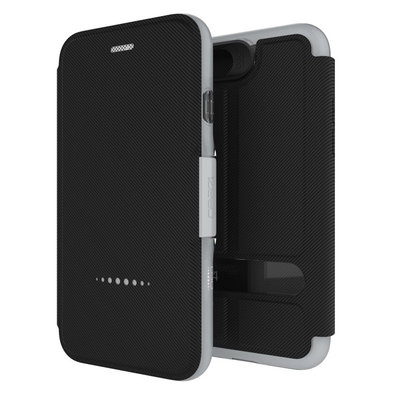Gear4 Oxford Book Case iPhone 7 Silver/Black - 1