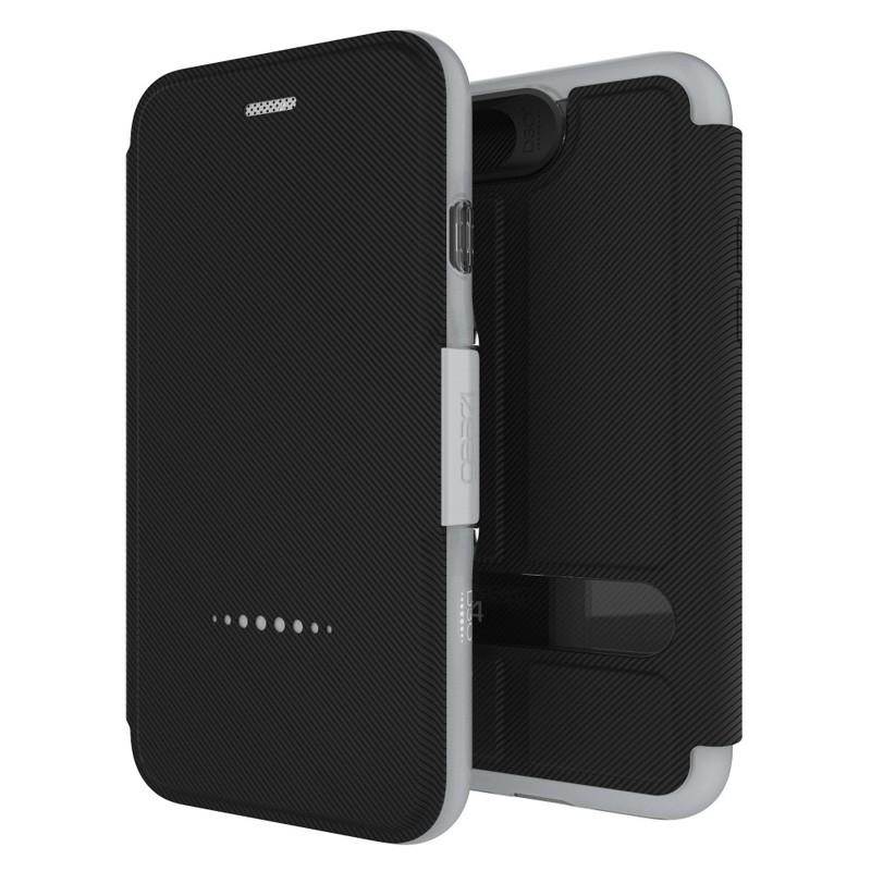 Gear4 Oxford Book Case iPhone 7 Silver/Black - 1