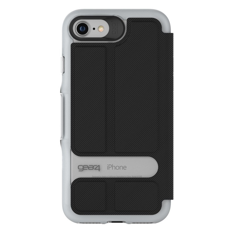 Gear4 Oxford Book Case iPhone 7 Silver/Black - 3