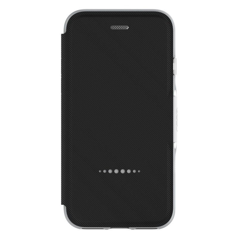 Gear4 Oxford Book Case iPhone 7 Silver/Black - 4