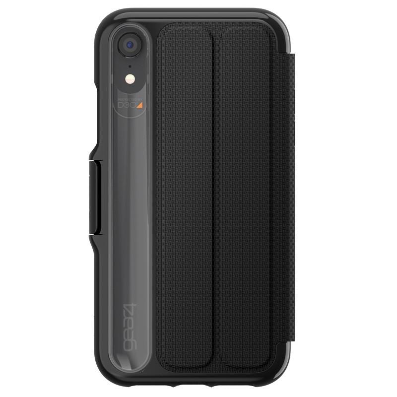 Gear4 Oxford iPhone XR Hoesje Zwart 02
