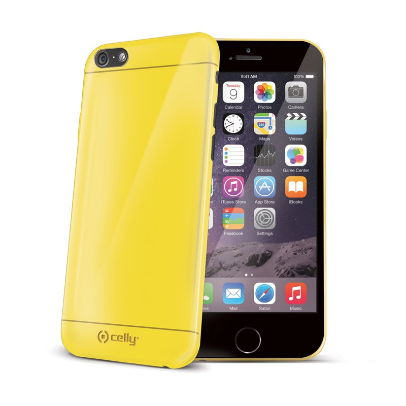 Celly GelSkin iPhone 6 Yellow - 1