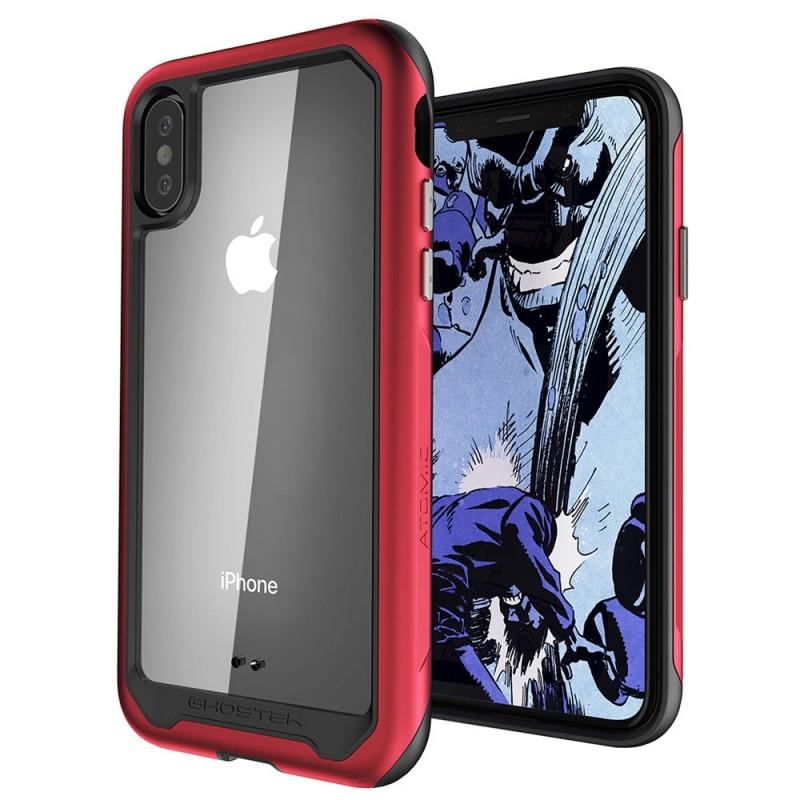 Ghostek Atomic Slim voor iPhone XS Max Rood - 1