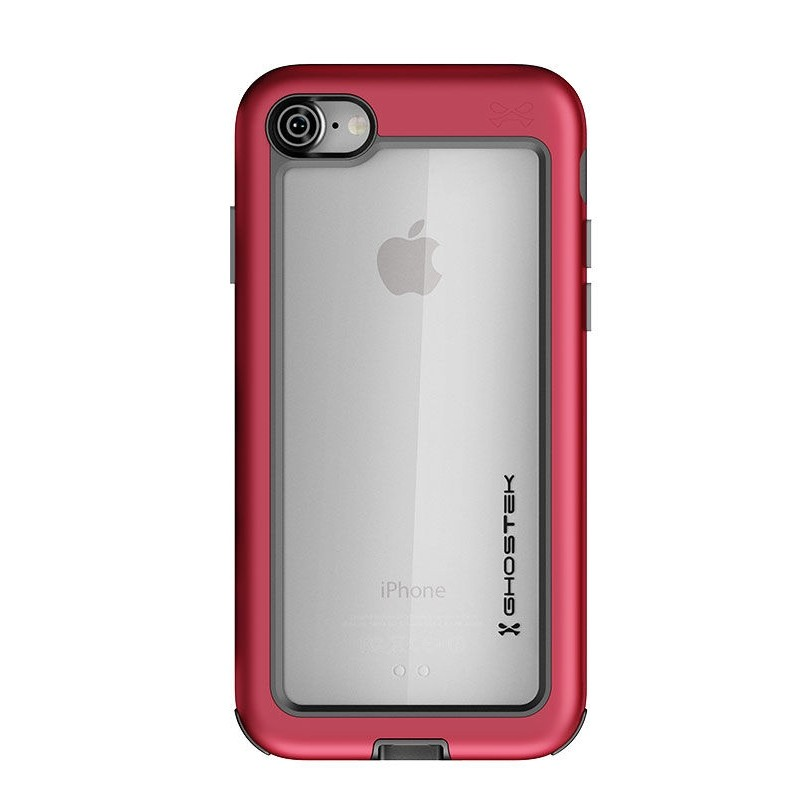 Ghostek Atomic Slim Rugged Case iPhone 8/7 rood / transparant 02