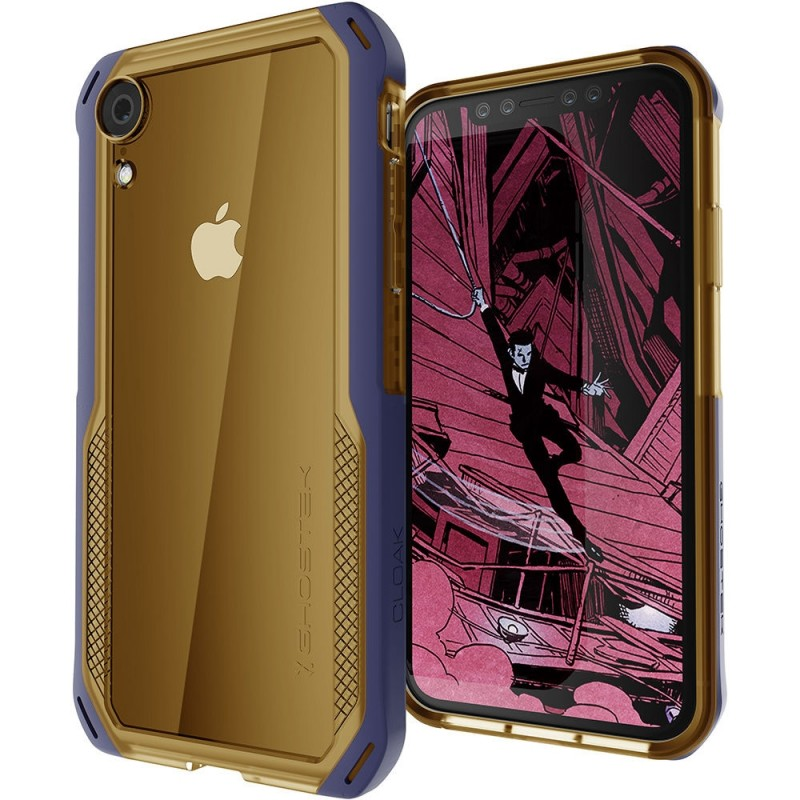 Ghostek Cloak 4 iPhone XR Hoesje Blauw/Goud - 1