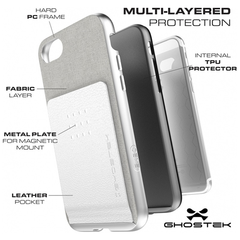 Ghostek Exec 2 Protetive Wallet iPhone 8/7 Zilver 04
