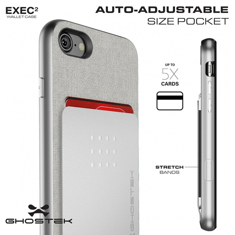 Ghostek Exec 2 Protetive Wallet iPhone 8/7 Zilver 06