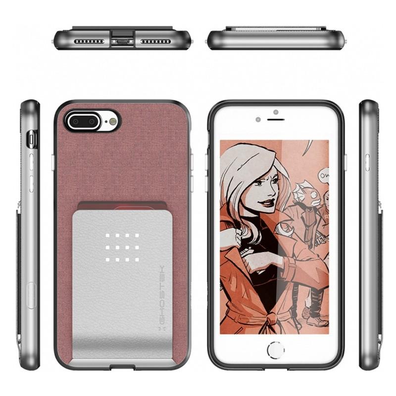 Ghostek Exec 2 Wallet Case iPhone 8 Plus/7 Plus Pink 02