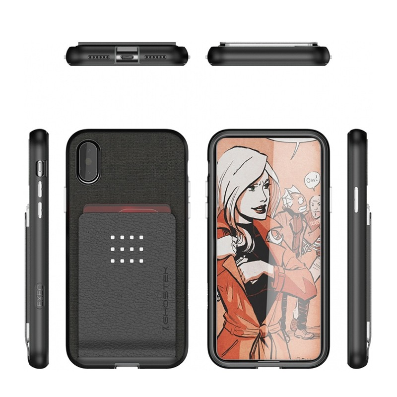 Ghostek Exec 2 Wallet Case iPhone X zwart 02