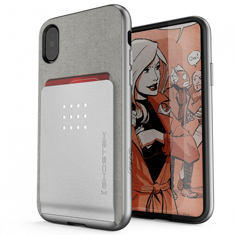 Ghostek Exec 2 Wallet Case iPhone X/Xs SILVER 01