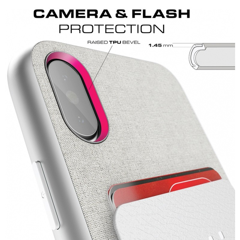 Ghostek Exec 2 Wallet Case iPhone X/Xs SILVER 05