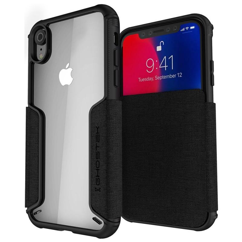 Ghostek Exec 2 iPhone XR Wallet Zwart/Transparant - 1
