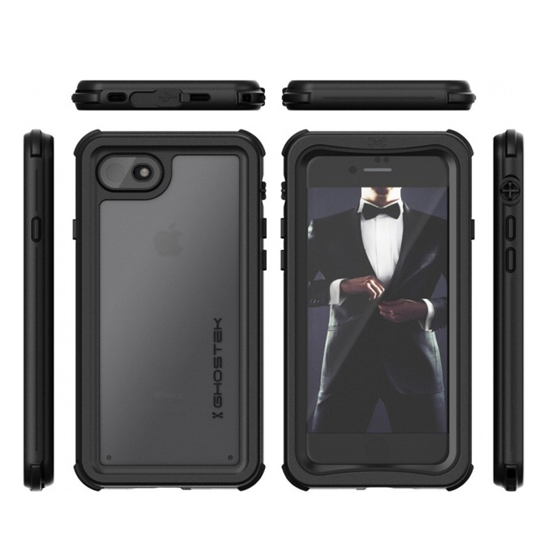 Ghostek - Nautical v2 Waterdicht iPhone 8/7 hoesje Zwart 02