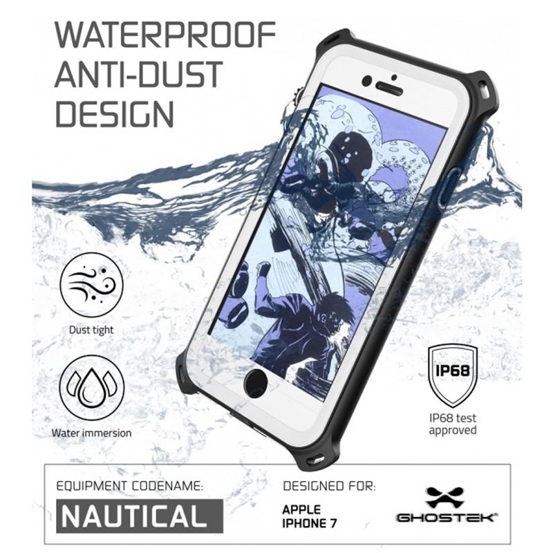 Ghostek - Nautical Waterdicht iPhone 7 hoesje White 05