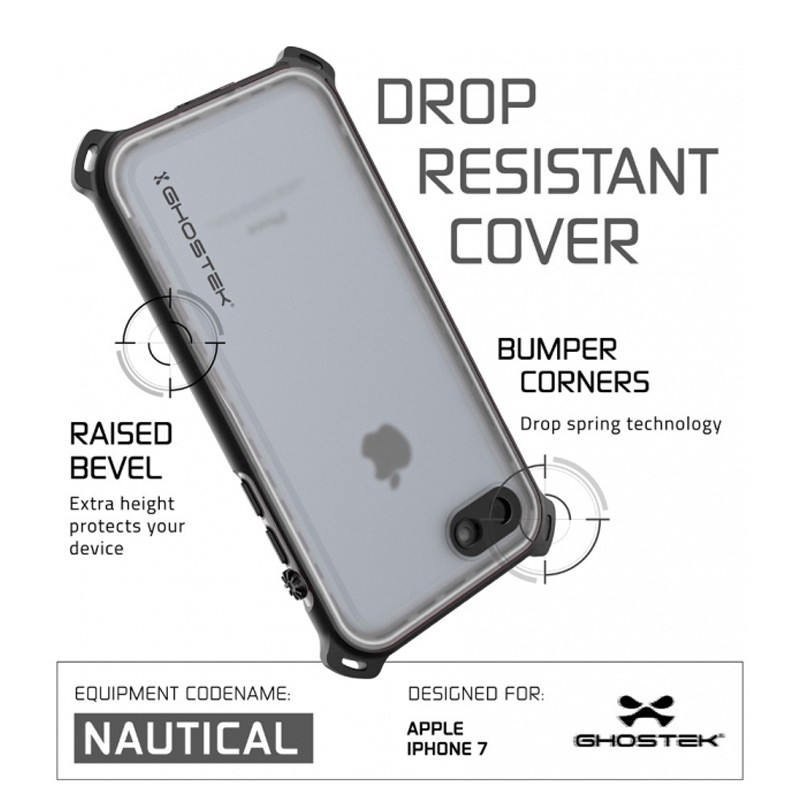 Ghostek - Nautical Waterdicht iPhone 7 hoesje White 06