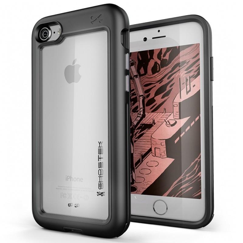 Ghostek Atomic Slim Rugged Case iPhone 8/7 zwart / transparant 01