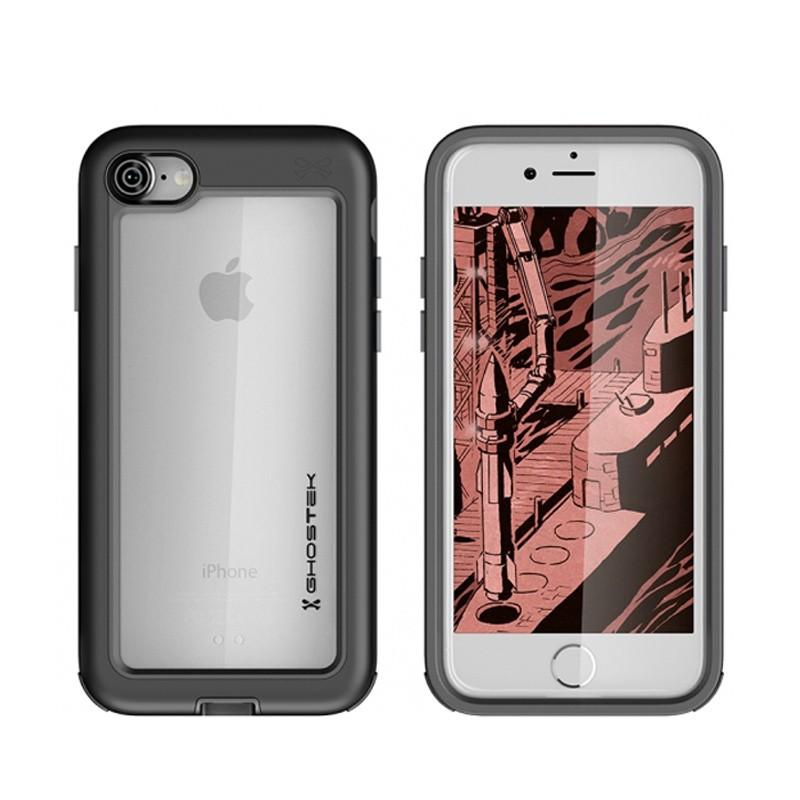 Ghostek Atomic Slim Rugged Case iPhone 8/7 zwart / transparant 03
