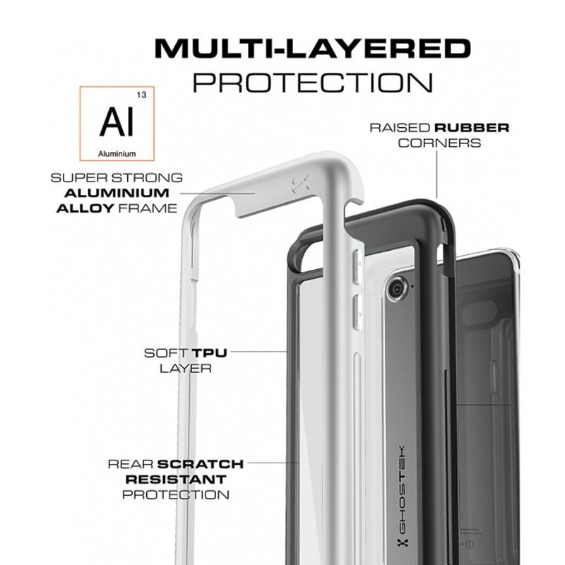 Ghostek Atomic Slim Rugged Case iPhone 8/7 zwart / transparant 04