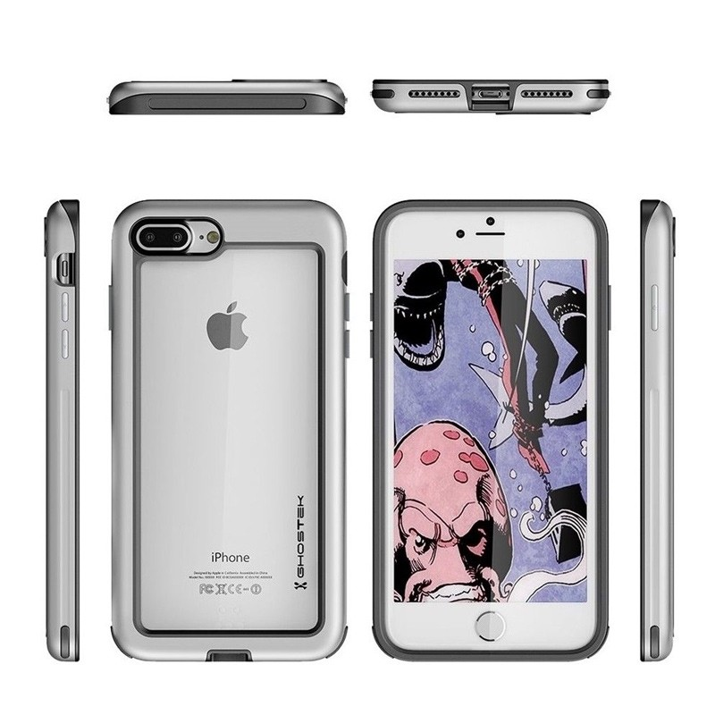 Ghostek - Atomic Slim Case iPhone 8 Plus/7 Plus zilver 02