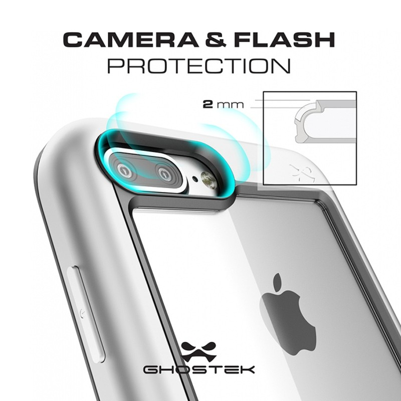 Ghostek - Atomic Slim Case iPhone 8 Plus/7 Plus zilver 04